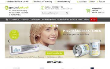 Screenshot gesund-gekauft.ch