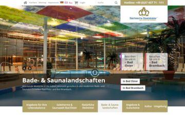 Screenshot Sächsische Staatsbäder