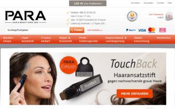 Screenshot PARA AG
